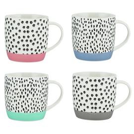Argos Home Colour Dash Set of 4 Mugs