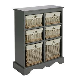 Argos Home New Malvern Hallway 6 Drawer Unit - Grey