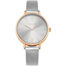 Identity Pale Silver Sunray Dial Mesh Strap Watch