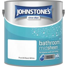 Johnstone's Bathroom Paint 2.5L - Pure Brilliant White