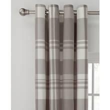 Argos Home Woven Check Eyelet Curtain