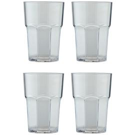 Argos Home Clear Large Plastic Soda Glass - 4 Pack