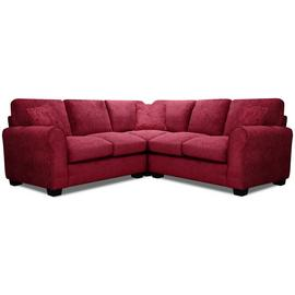 Argos Home Tammy Corner Fabric Sofa - Wine