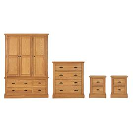Argos Home Oakham 4 Piece Wardrobe Set - Oak & Oak Veneer