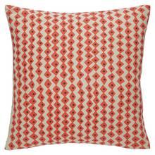 Habitat Darcy Zigzag Cushion - Red