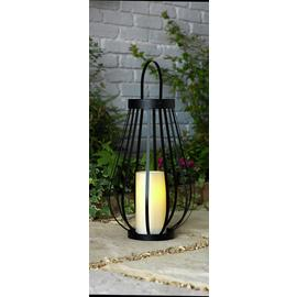 Argos Home Large Battery Powered Black Metal Lantern