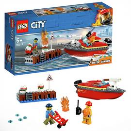 LEGO City Fire Dock Side Fire Toy Boat Playset - 60213/t
