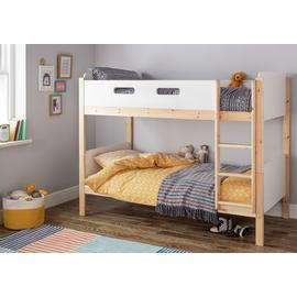 Argos Home Arlo White & Pine Bunk Bed