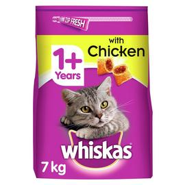 Whiskas 1+ Complete Dry Adult Cat Food with Chicken 7kg