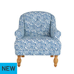 Argos Home Macy Fabric Armchair - Floral Blue