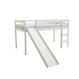 Argos Home Kaycie White Midsleeper, Slide & Kids Mattress