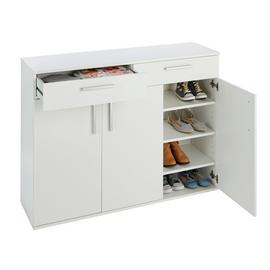 Argos Home Venetia Large 3 Door 2 Drawer Shoe Cabinet -White