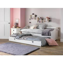 Argos Home Mia White Day Bed & 2 Kids Mattresses