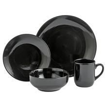 Argos Home Bosa 16 Piece Stoneware Dinner Set - Black