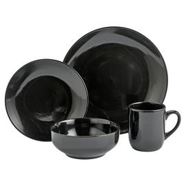 Argos Home Bosa 16 Piece Stoneware Dinner Set - Black