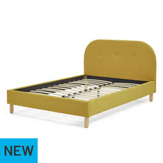 Argos Home Elin Mustard Single Bed Frame