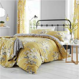 Catherine Lansfield Canterbury Ochre Bedding Set - Double