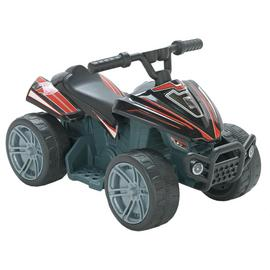 Chad Valley Baby 6V Powered Quad Bike Ride On - Black & Red