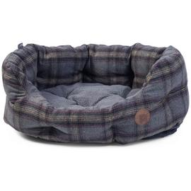 Petface Grey Tweed Oval Pet Bed - Medium