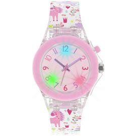 Tikkers Kids Multicoloured Unicorn Silicone Strap Watch Set