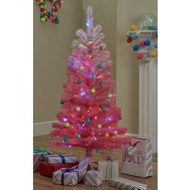 Argos Home 4ft Christmas Tree - Pink Ombre