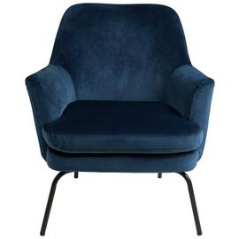Habitat Celine Velvet Accent Chair - Blue