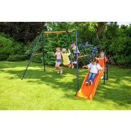 Hedstrom Saturn Kids Garden Glider, Swing Set and Slide