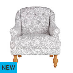 Argos Home Macy Fabric Armchair - Floral Light Grey