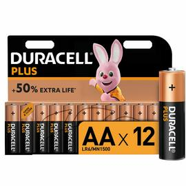 Duracell Plus Alkaline AA Batteries - Pack of 12