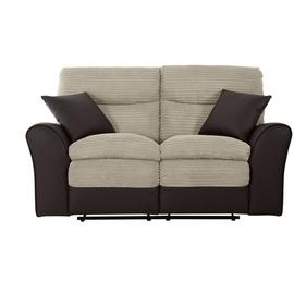 Argos Home Harry 2 Seater Fabric Recliner Sofa - Natural