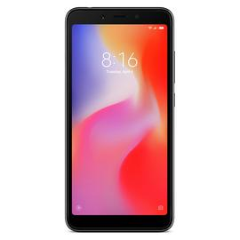 Three Xiaomi RedMI 6A 16GB Mobile Phone - Black