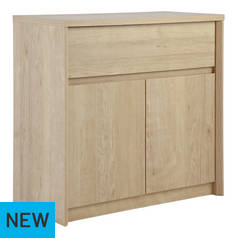 Argos Home Dalen 2 Door 1 Drawer Sideboard - Oak Effect