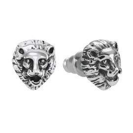 Revere Stainless Steel Lion Set of 2 Stud Earrings