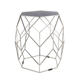 Argos Home Palm Luxe Occasional Table - Silver