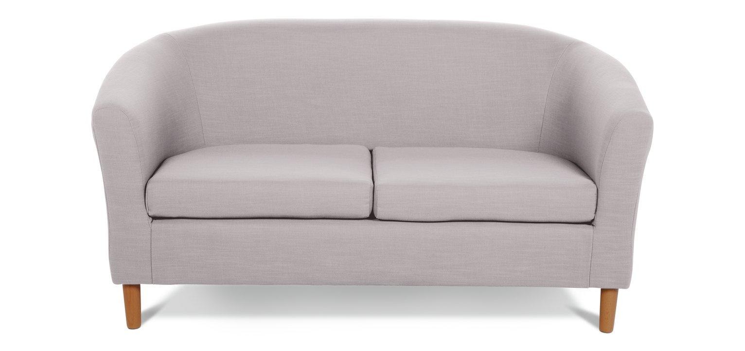 Bon Buy Argos Home 2 Seater Fabric Tub Sofa   Grey | Sofas | Argos