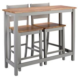 Argos Home Chicago Bar Table and 2 Stools - Grey