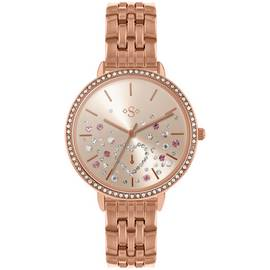 9679044cd27 Spirit Stone Set Dial Ladies Rose Gold Coloured Strap Watch