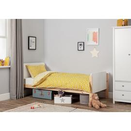 Argos Home Arlo White & Pine Bed & Kids Mattress