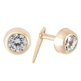 Revere 9ct Yellow Gold Cubic Zirconia Stud Earrings