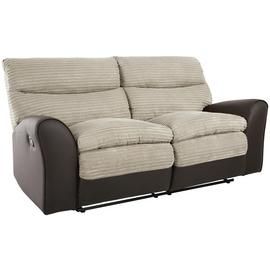 Argos Home Harry 3 Seater Fabric Recliner Sofa - Natural
