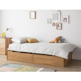 Argos Home Lloyd Oak Effect Cabin Bed & Kids Mattress