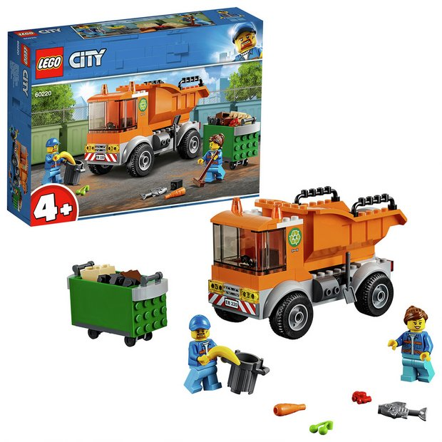Buy LEGO City Garbage Toy Truck Construction Set - 60220 | Toy cars,  vehicles and sets | Argos