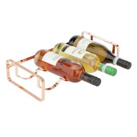 Argos Home Stacking Wine Rack - Rose Gold