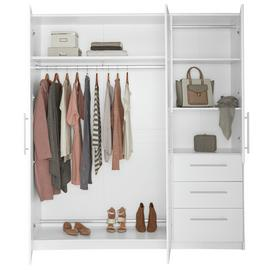 Argos Home Normandy 3 Door 3 Drawer XL Wardrobe