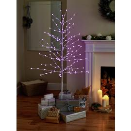 Argos Home 5ft Multifunction Berry Light Tree - White