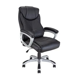 Argos Home Faux Leather Office Chair - Black