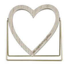 Argos Home Heart Shaped Mirror with Stand