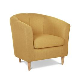 Argos Home Ayres Fabric Tub Chair - Yellow