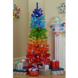 Argos Home Rainbow Christmas Tree - 5ft