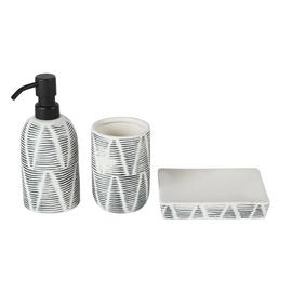 Argos Home Reactive Glaze Bathroom Accessory Set